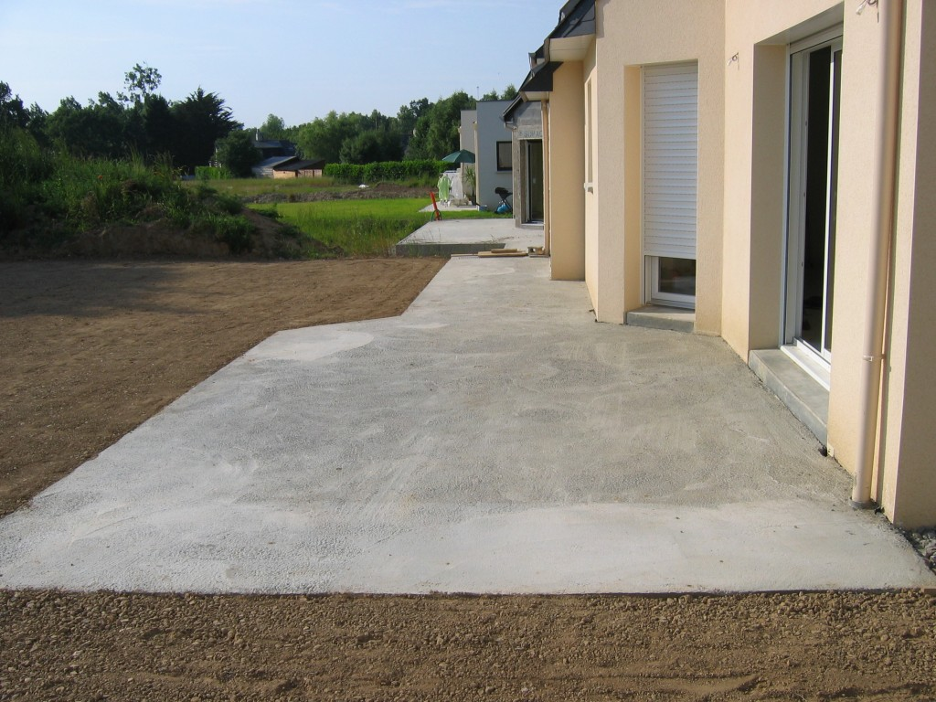 Préféré Couler une dalle terrasse béton | BricoBistro SR97