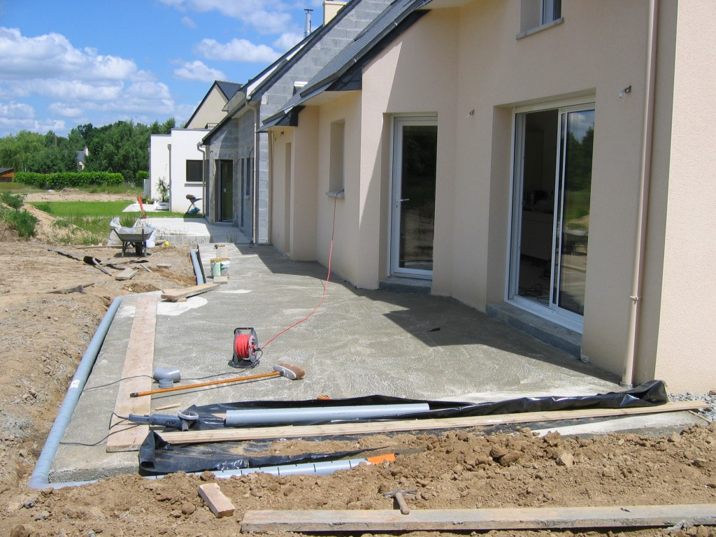 faire une terrasse en beton couler dalle beton pictures With comment faire une terrasse en beton
