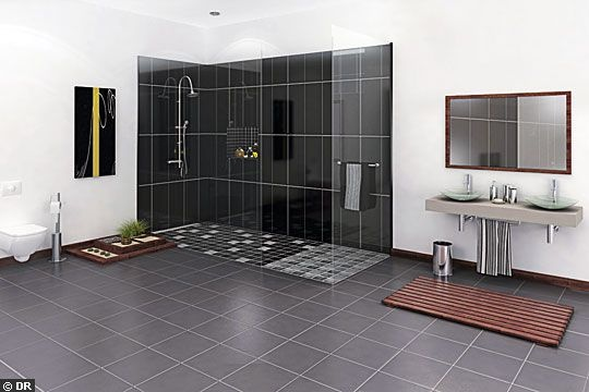 le carrelage d 39 une douche italienne bricobistro. Black Bedroom Furniture Sets. Home Design Ideas
