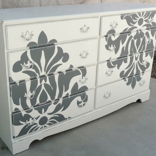 Beautiful Commode Peint Blanche Et Gris With Relooker Une