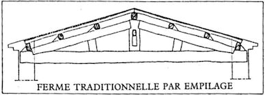 ferme traditionnelle par empilage Charpente Traditionnelle et Fermette
