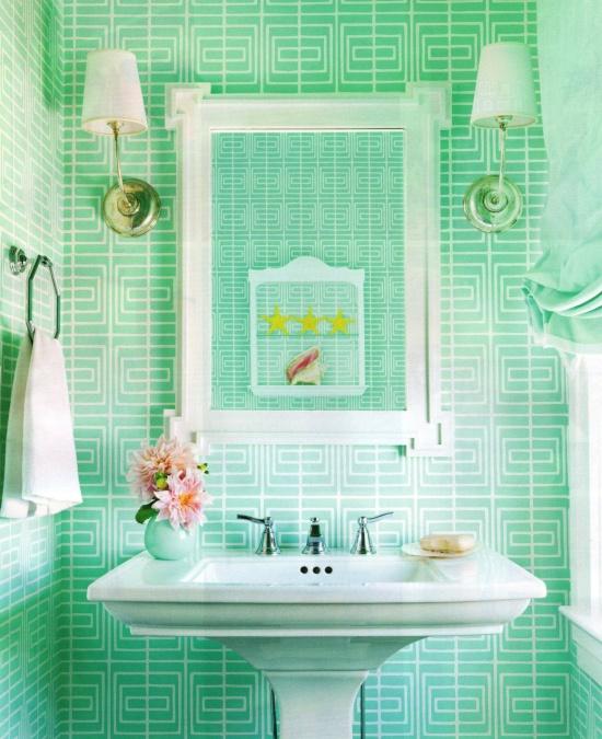 salle de bain vert d eau