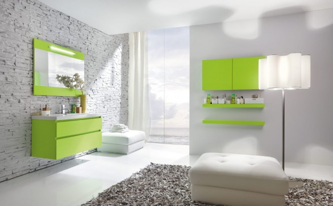 la salle de bain verte id es d co bricobistro. Black Bedroom Furniture Sets. Home Design Ideas