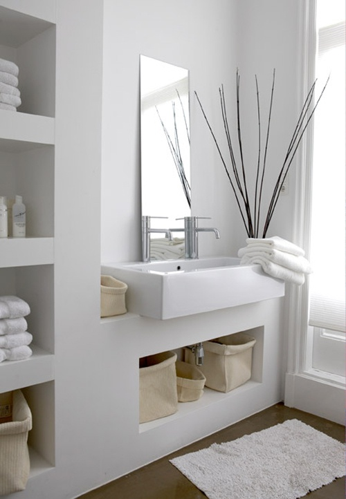 La salle de bain moderne 12 idees simple et chic bricobistro for Photos decoration salle de bain moderne