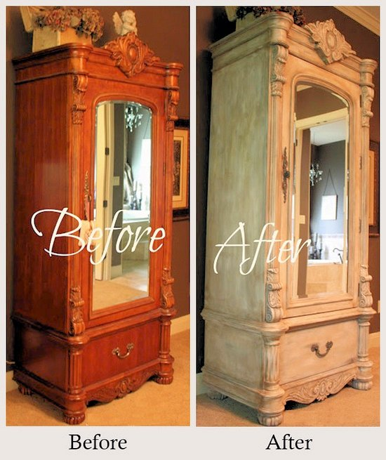 armoire ancienne relooke meubles en merisier relooker. Black Bedroom Furniture Sets. Home Design Ideas