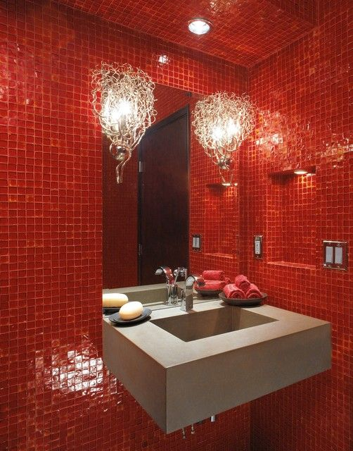 Beautiful Salle De Bain Noir Et Rouge Gallery  Awesome Interior