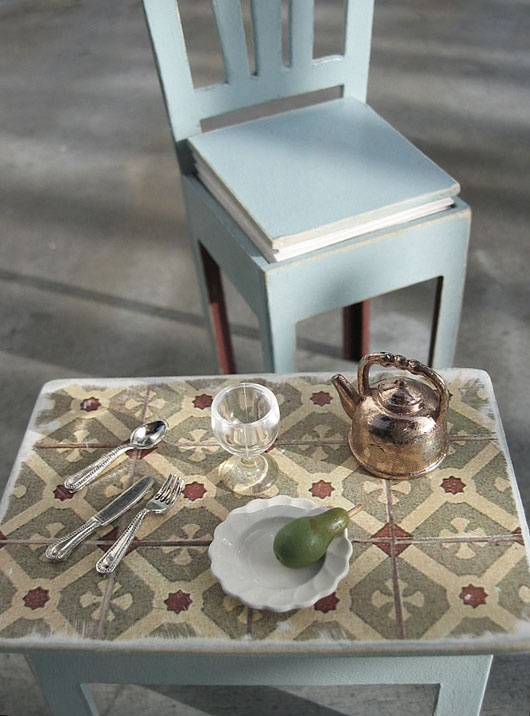 carreaux de ciment - table