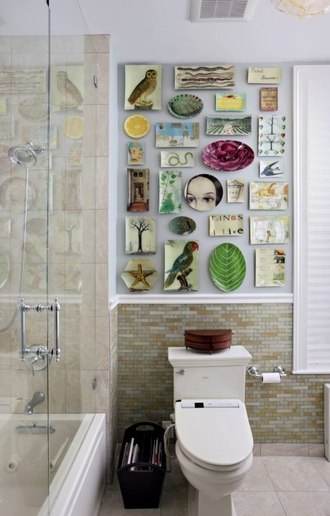 11 id es deco wc super cool bricobistro for Small art deco bathroom ideas