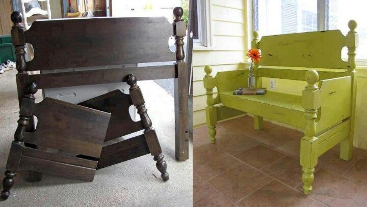 Fabriquer Un Banc En Bois De Palette : Frame Out of Bed Bench