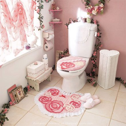 idee deco wc rose