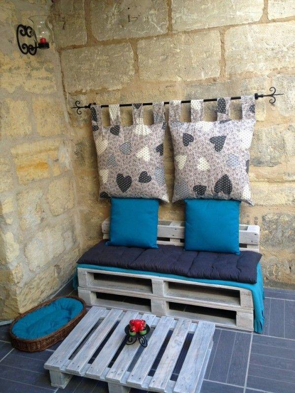 Salon de jardin en palette de bois | BricoBistro