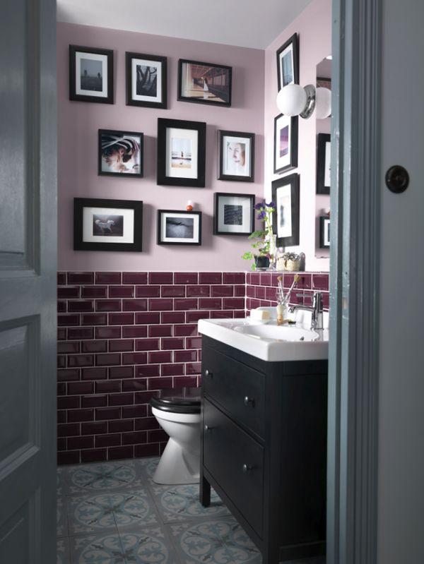 Carrelage mural salle de bain bricobistro for Carrelage salle de bain violet