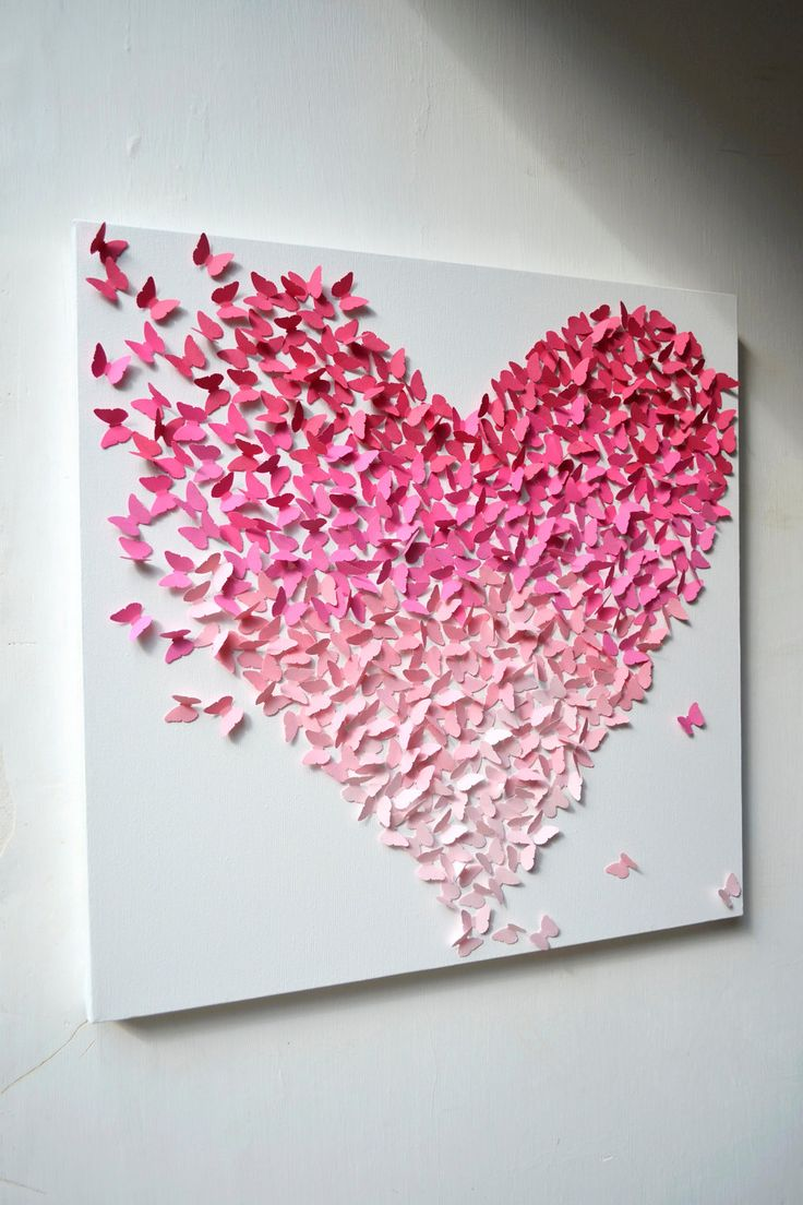 heart wall decor 3d
