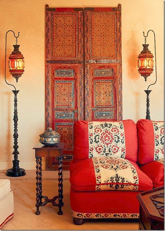 Comment r aliser une d co indienne dans un salon for Decoration porte indienne