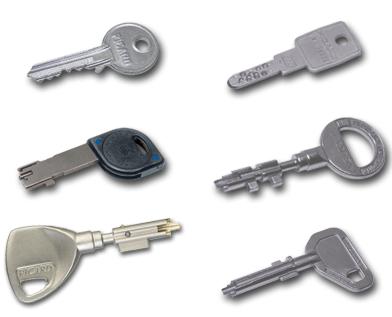 séparer les clés
