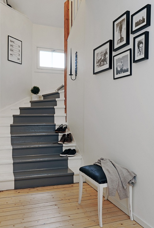 Comment repeindre un escalier bricobistro for Photo escalier peint blanc gris