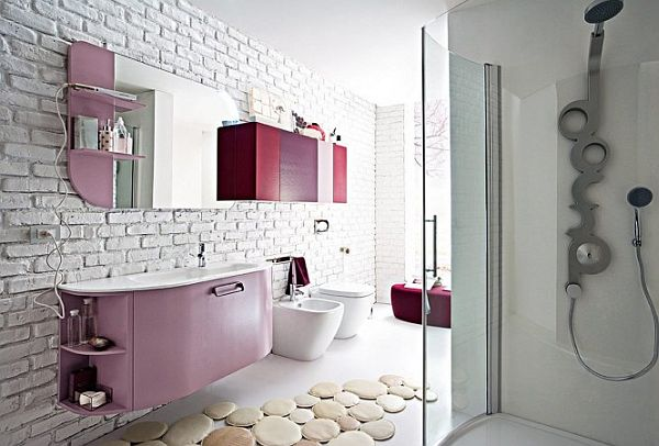 beautiful salle de bain fushia marron contemporary - home