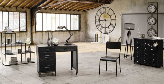 d coration au style industriel bricobistro. Black Bedroom Furniture Sets. Home Design Ideas