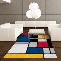 tapis motifs rectangle