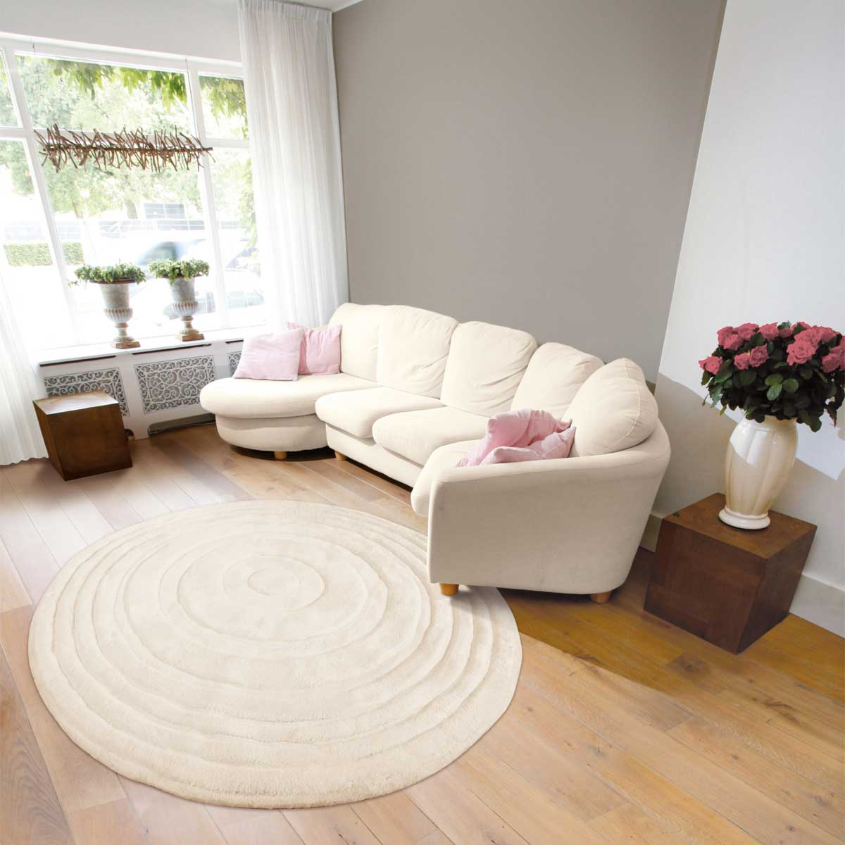 carrelage design tapis rond salon moderne design pour. Black Bedroom Furniture Sets. Home Design Ideas