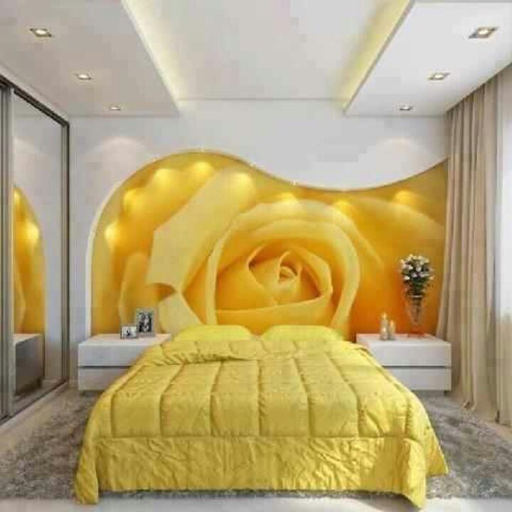 Un int rieur joyeux gr ce au jaune bricobistro for Salon chambre a coucher
