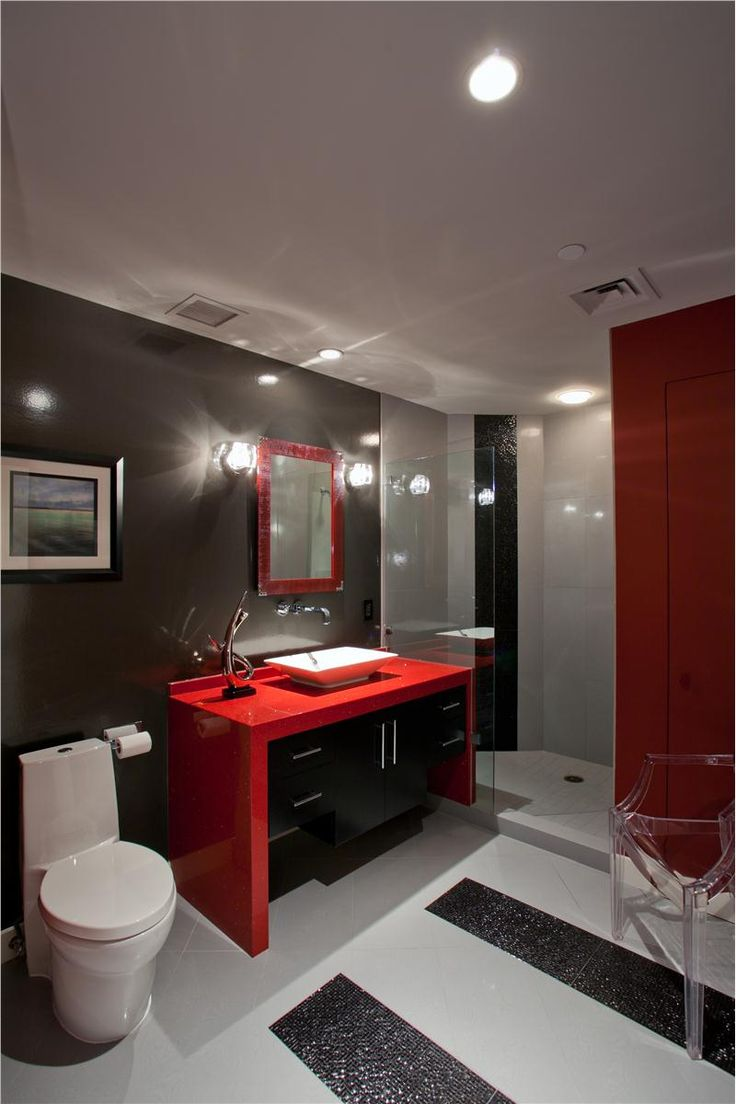 D couvrez les derni res tendances de couleurs pour la for Bathroom ideas red and black