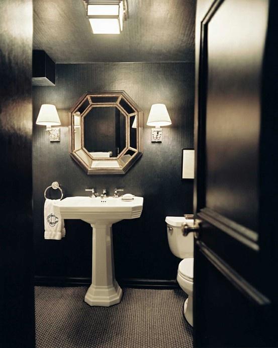 Des salles de bain s'habillant en noir (10)