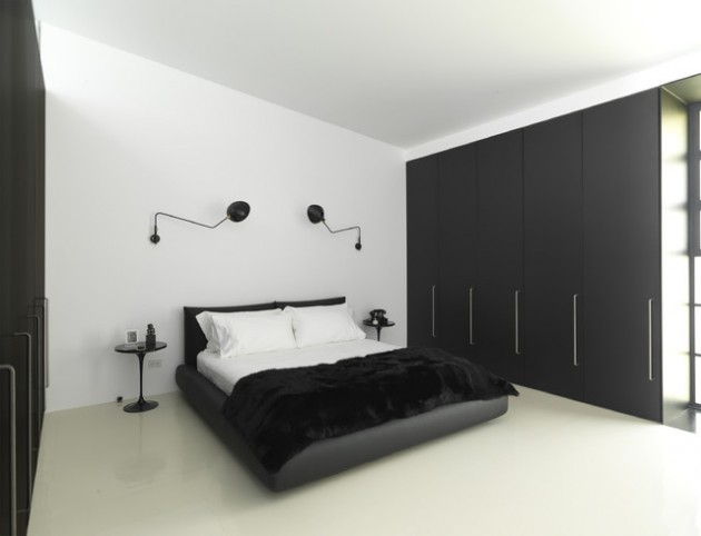 des chambres minimalistes noir et blanc bricobistro. Black Bedroom Furniture Sets. Home Design Ideas