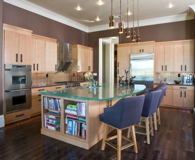 10 plans de travail en verre tr s styl s pour la cuisine. Black Bedroom Furniture Sets. Home Design Ideas