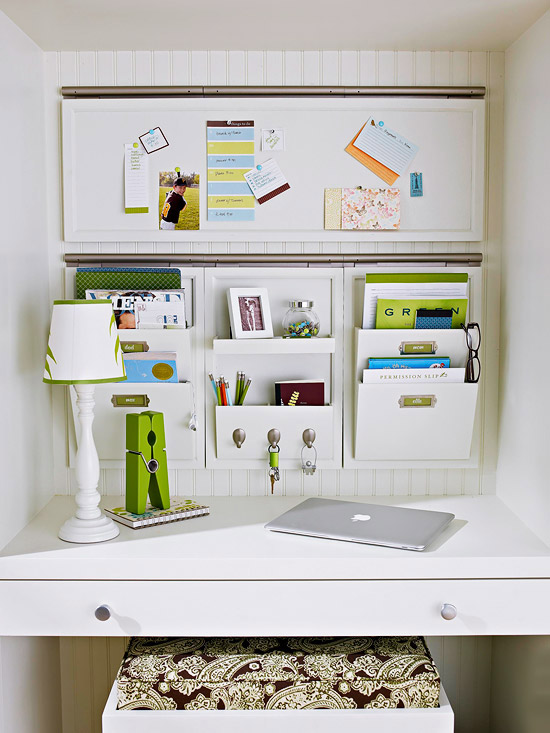 Des petits rangements de bureau r aliser soi m me - How to organize your desk at home for school ...