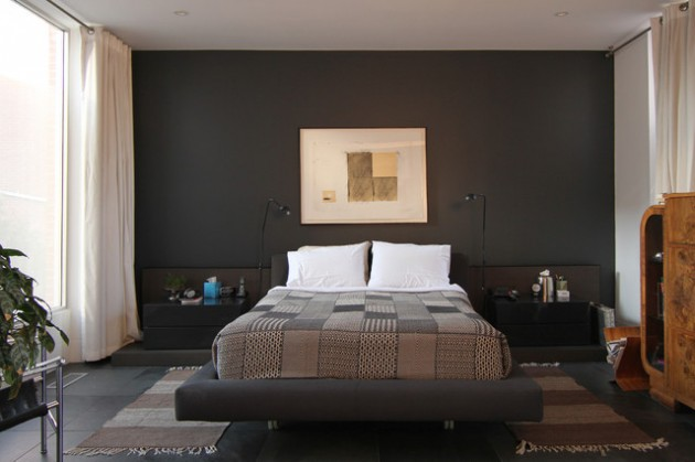 Master bedroom paint color ideas with dark furniture - Couleur mur chambre ...