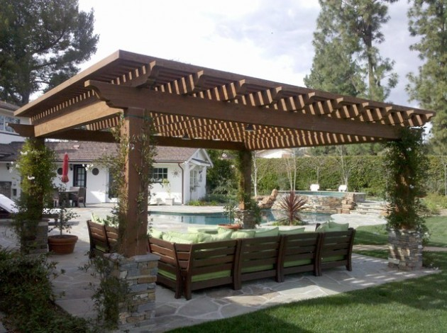 d corez votre terrasse avec une pergola bricobistro. Black Bedroom Furniture Sets. Home Design Ideas