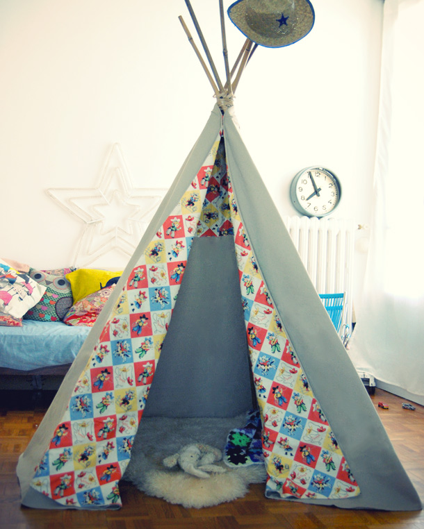 comment fabriquer un tipi bricobistro. Black Bedroom Furniture Sets. Home Design Ideas