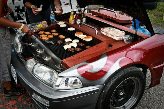 voiture barbecue