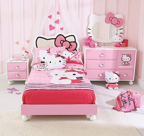 comment d corer la chambre des fans de hello kitty bricobistro. Black Bedroom Furniture Sets. Home Design Ideas
