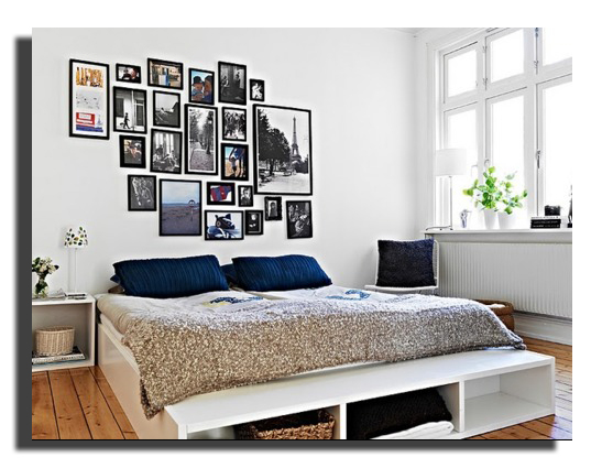comment habiller un mur blanc maison design. Black Bedroom Furniture Sets. Home Design Ideas