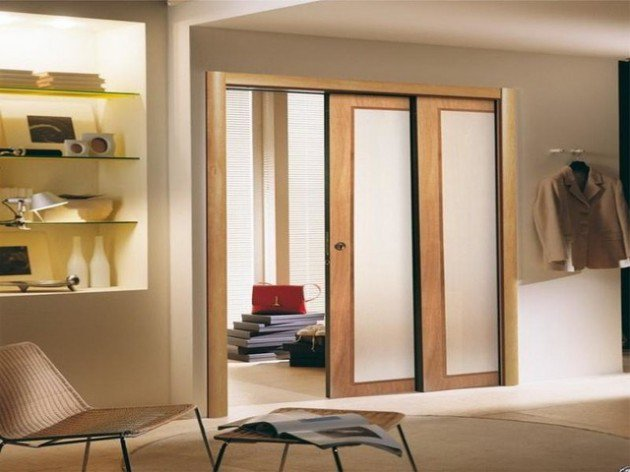 11 portes coulissantes d int rieur utiles et agr ables for Porte de salon double