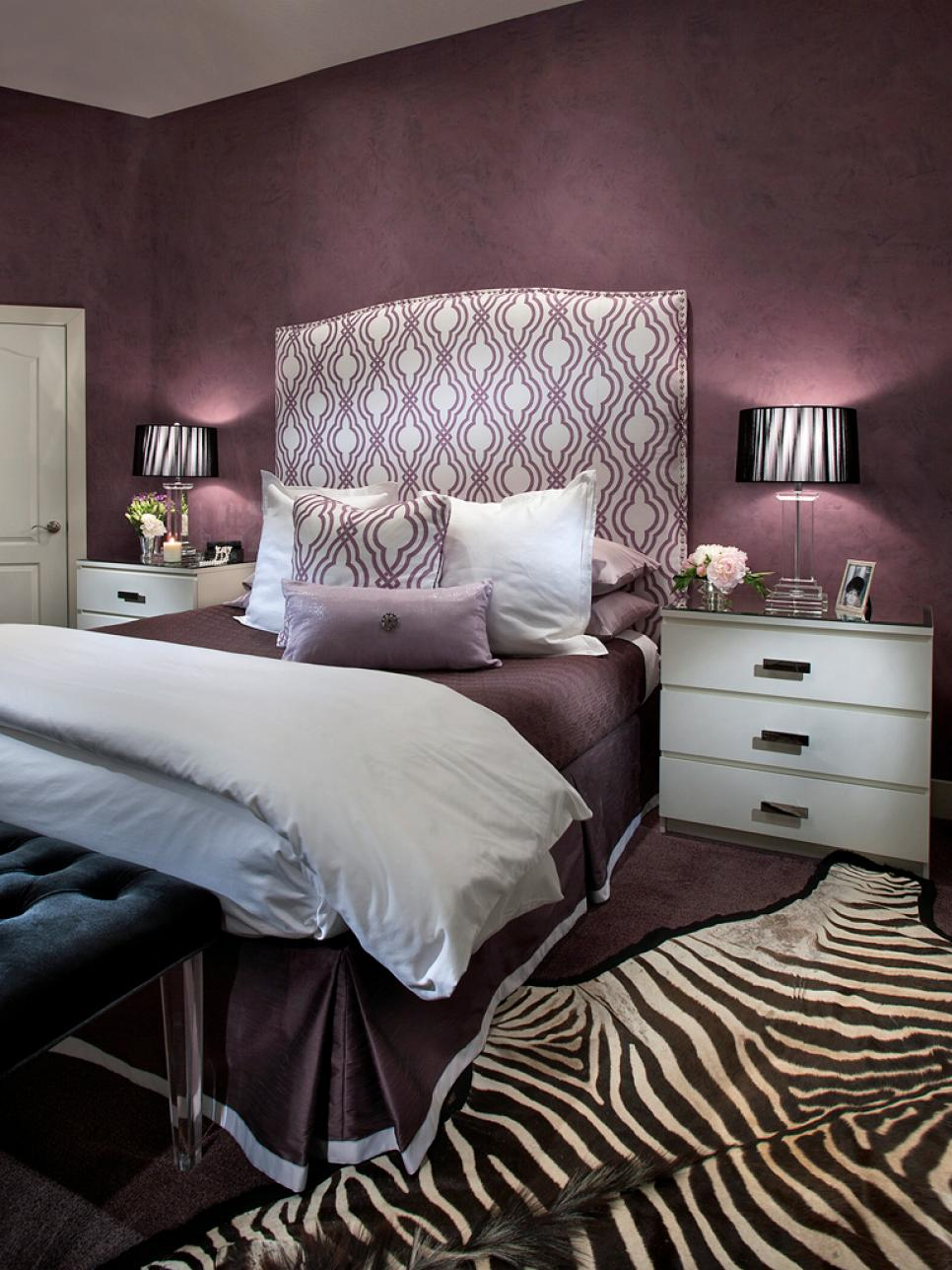 id es de d co le violet dans votre chambre bricobistro. Black Bedroom Furniture Sets. Home Design Ideas