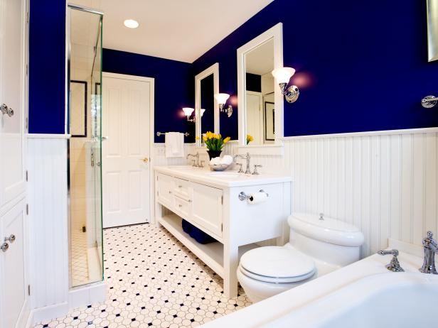 Des combinaisons de couleurs infaillibles pour la salle de for Bathroom color ideas blue