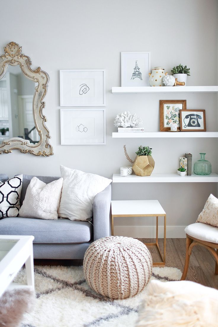 10 id es pour utiliser les tag res flottantes blanches for C o the living room