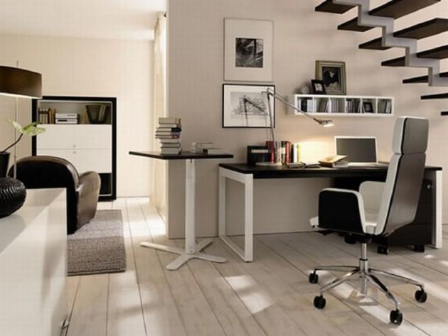 Coin bureau dans un salon idées décoration idées décoration