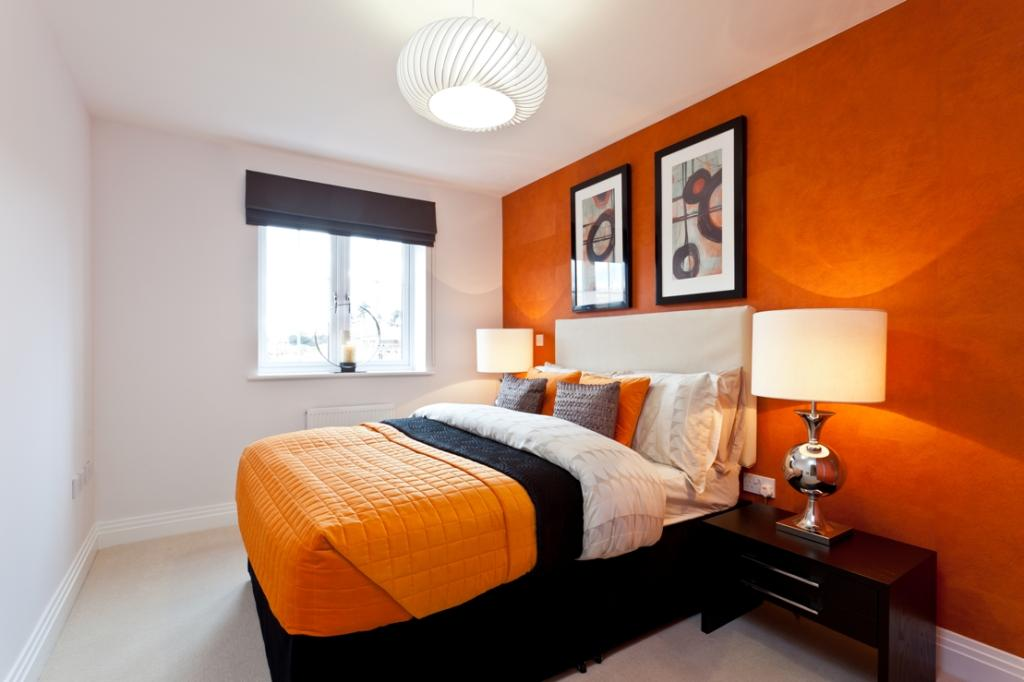 conseils d co une chambre coucher orange bricobistro. Black Bedroom Furniture Sets. Home Design Ideas