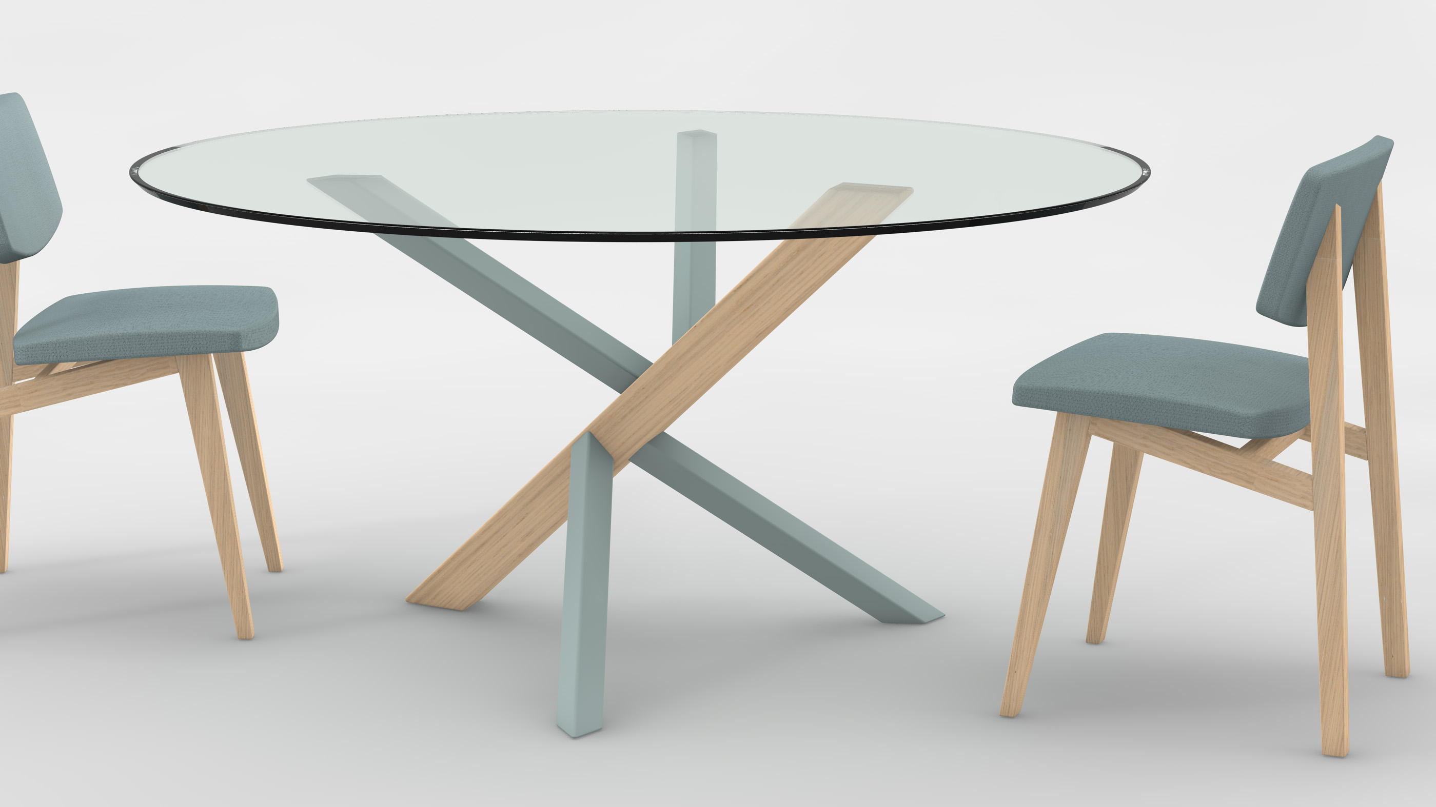 Meubles et d co la tendance des tables rondes en verre bricobistro - Customiser table en verre ...
