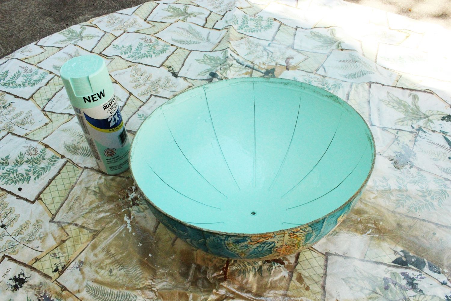 Globe-after-spray-paint