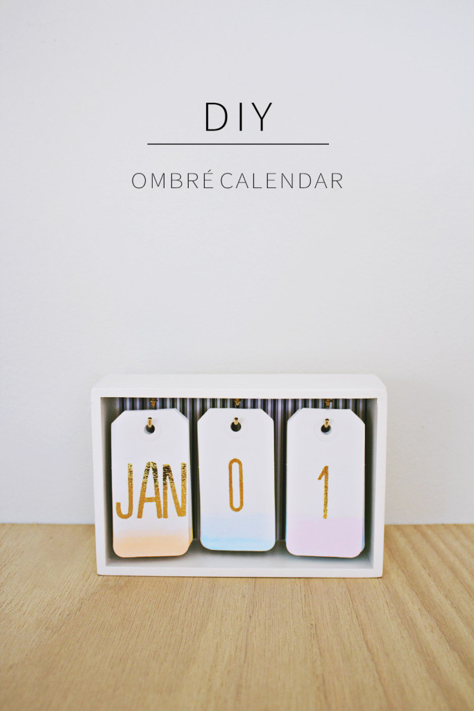 diy fabriquez un calendrier ombr pour votre bureau. Black Bedroom Furniture Sets. Home Design Ideas