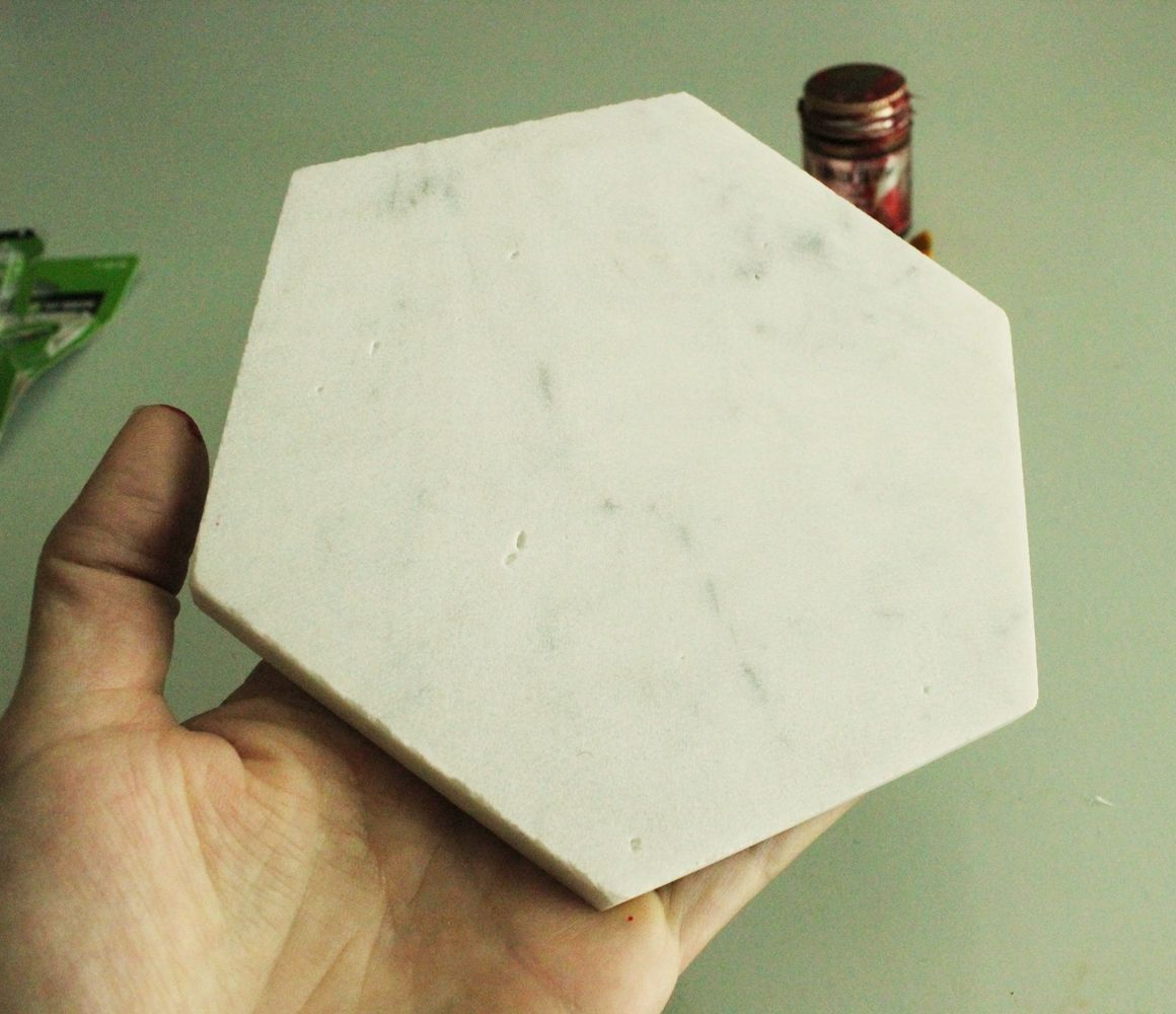 diy plateau marbre hexagone2