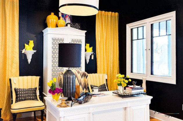 pourquoi d corer son bureau avec du jaune bricobistro. Black Bedroom Furniture Sets. Home Design Ideas