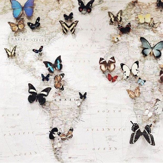 Des idées de déco fascinantes avec une carte du monde | BricoBistro