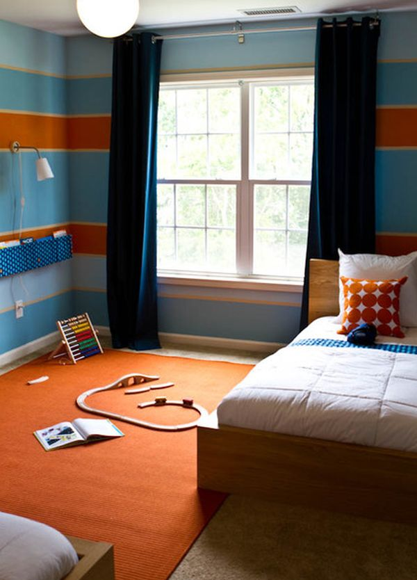 déco orange bleu7