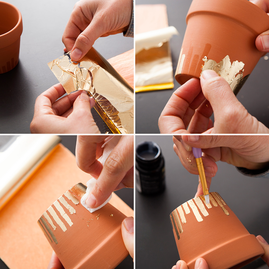 diy pot feuille or3